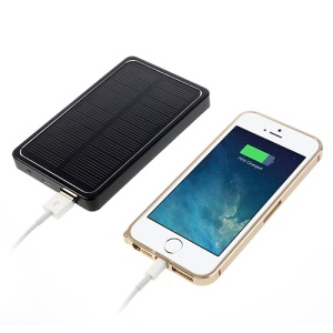 4000mAh Portable Solar Charger External Battery Pack Power Bank - Black