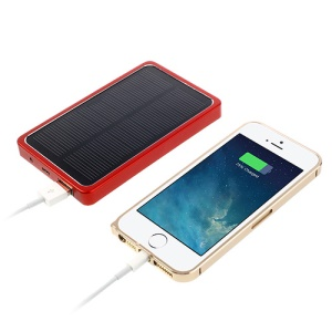 4000mAh Portable Solar Charger External Battery Pack Power Bank - Red