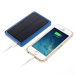 4000mAh Portable Solar Charger External Battery Pack Power Bank - Blue