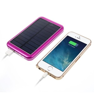 8000mAh High Capacity Portable Solar Charger Backup Battery Power Bank - Rose