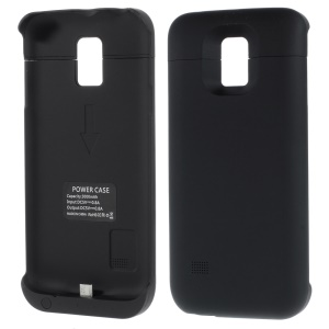 Sliding Battery Charger Case Power Bank for Samsung Galaxy S5 Mini G800 3000mAh - Black