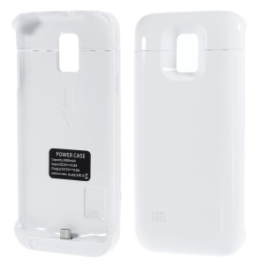 Sliding External Battery Charger Case for Samsung Galaxy S5 Mini G800 3000mAh - White