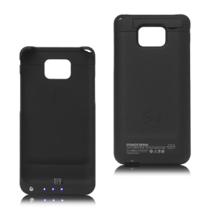 2800mAh External Battery Case for Samsung I9100 Galaxy S2 / II - Black