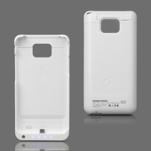 2800mAh External Battery Case for Samsung I9100 Galaxy S2 / II - White