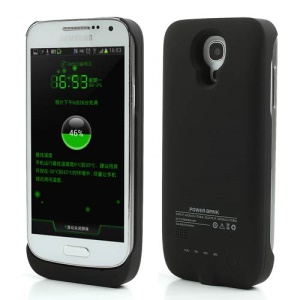 3000mAh External Battery Power Bank Case for Samsung Galaxy S4 Mini I9190 - Black