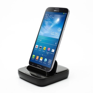 Multi-function Desktop Dock Charger for Samsung Galaxy Mega 6.3 I9200 / Mega 5.8 I9150 - Black