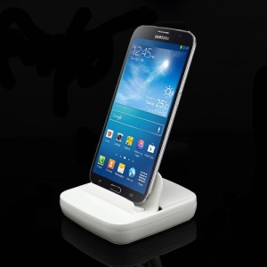 Multi-function Desktop Dock Charger for Samsung Galaxy Mega 6.3 I9200 / Mega 5.8 I9150 - White