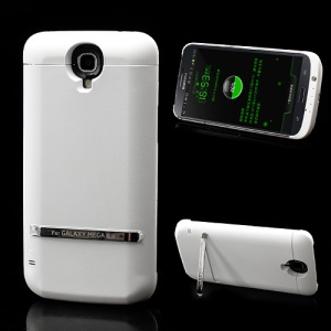 White 5200mAh External Backup Battery Charging Case for Samsung Galaxy Mega 6.3 I9200