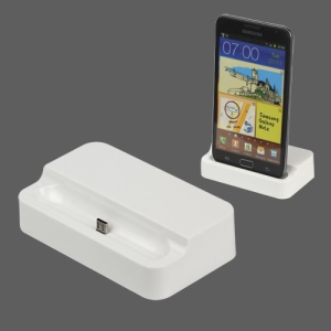 Desktop Cradle Dock Charger for Samsung Galaxy Note i9220 GT-N7000 / i717 - White