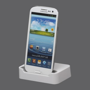Micro USB Charging Dock Cradle Stand for Samsung i9300 Galaxy S iii - White