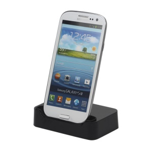 Desktop Cradle Charger Dock for Samsung i9300 Galaxy S iii - Black