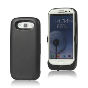 3500mAh External Battery Charger Case for Samsung Galaxy S 3 / III I9300 I747 L710 T999 I535 R530 - Black