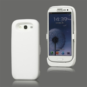 3500mAh External Battery Charger Case for Samsung Galaxy S 3 / III I9300 I747 L710 T999 I535 R530 - White