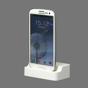 White Micro USB Charging Dock Cradle Stand for Samsung i9300 Galaxy S3