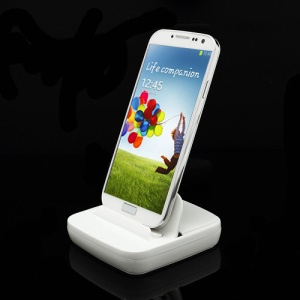 Multi-function Desktop Dock Charger for Samsung Galaxy S4 i9500 / Galaxy S3 i9300 / Galaxy S2 / Galaxy Note II - White