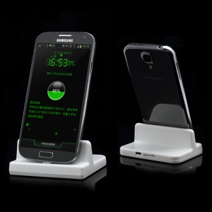 Sync Data Docking Dock Station Charger for Samsung i9500 Galaxy S4 - White
