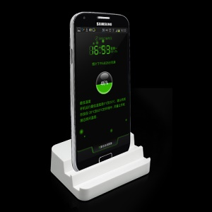 White Desktop Dock Cradle Charger Stand for Samsung i9500 Galaxy S4