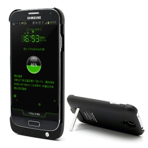 3200mAh External Backup Battery Charger Power Bank Case w/ Stand for Samsung Galaxy S IV i9500