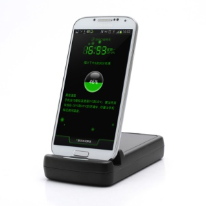 USB Sync Cradle Desktop Dock and Spare Battery Charger for Samsung Galaxy S IV S4 i9500 i9502 i9505