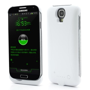 3300mAh Battery Backup Power Bank Supply Case for Samsung Galaxy S IV S4 i9500 i9502 i9505 - White