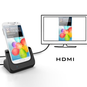 Desktop Cradle Docking Station with HDMI Out Port for Samsung Galaxy S4 i9500