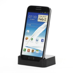 USB Cradle Dock Charger Stand for Samsung Galaxy Note II N7100 - Black