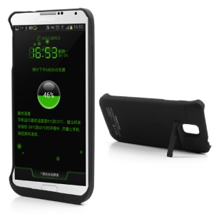 Black for Samsung Galaxy Note 3 N9000 External Battery Power Jacket Case 3800mAh