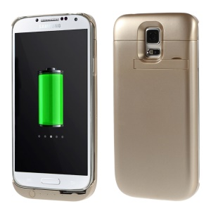 3500mAh External Battery Charger Power Bank w/ Kickstand for Samsung Galaxy S5 SV G900 - Champagne