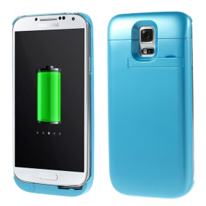 3500mAh Battery Charger Power Bank w/ Kickstand for Samsung Galaxy S5 SV G900 - Blue