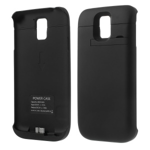 4800mAh Outer Battery Power Bank w/ Kickstand for Samsung Galaxy S5 SV G900 - Black