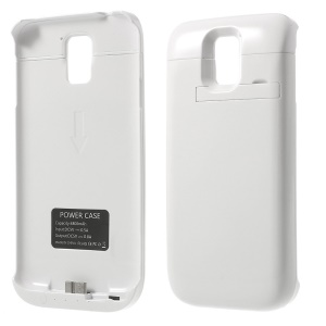 4800mAh Outer Battery Power Bank w/ Kickstand for Samsung Galaxy S5 SV G900 - White