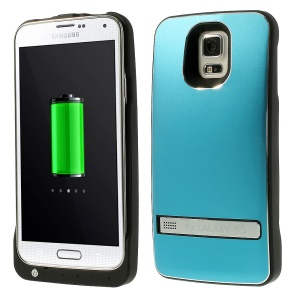 For Samsung Galaxy S5 G900 Backup Power Charger Battery Case w/ Kickstand 3200mAh - Blue