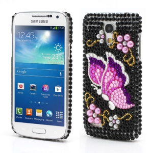 Colorful Butterfly Bling Rhinestone Case for Samsung Galaxy S4 mini i9190 i9192