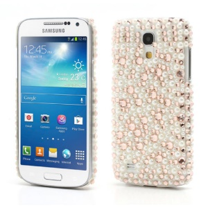 Elegant Pearl and Rhinestone Crystal Cover for Samsung Galaxy S4 mini i9195 i9190
