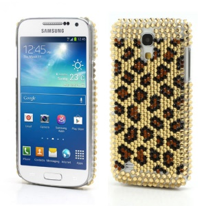 Leopard Diamond Crystal Case for Samsung Galaxy S 4 IV mini i9190 i9195