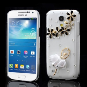 Flower Ballerina Diamond Case for Samsung Galaxy S IV mini I9190