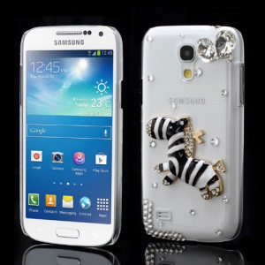 Sparkling Zebra Crystal Rhinestone Case for Samsung Galaxy S4 mini I9190