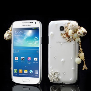 Bear Bead Flower Pendant Rhinestone Case for Samsung Galaxy S4 mini I9190