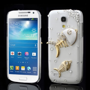 Diamante Fishbone Crystal Case Shell for Samsung Galaxy S4 mini I9190