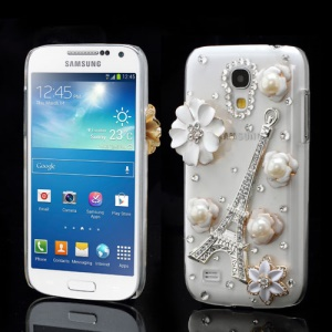 Luxury Eiffel Tower Flower Diamond Case for Samsung Galaxy S4 mini I9190