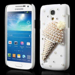 3D Pearl Ice-Cream Cone Plastic Case for Samsung Galaxy S4 mini i9190