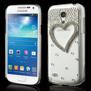 Bling Loving Heart Diamond Case for Samsung Galaxy S4 mini i9190