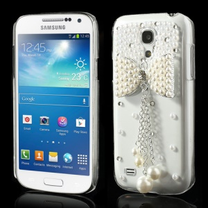 Noble Pearl Bowknot Crystal Cover for Samsung Galaxy S4 mini i9190