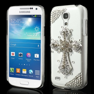 3D Cross Rhinestone Cover for Samsung Galaxy S4 mini i9190