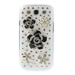Bling Bling 3D Diamante Flowers Hard Case for Samsung Galaxy S3 / IIII i9300 SGH-I747 SPH-L710 SGH-T999 SCH-I535 SCH-R530