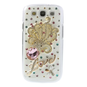 3D Rhinestone Inlaid Squid Design Protective Hard Case for Samsung Galaxy SIII I9300
