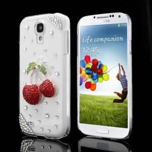 Bling Bling 3D Cherry Rhinestone Case for Samsung Galaxy S IV 4 i9500 i9505