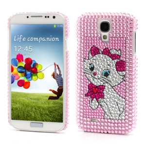 Diamante Aristo Cat Marie Hard Case Shell for Samsung Galaxy S IV 4 i9500 i9505