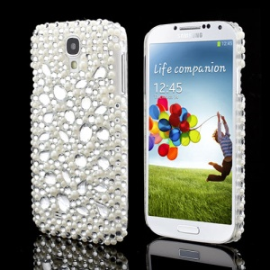 Elegant Pearl &amp;amp; Rhinestone Samsung Galaxy S IV 4 i9500 i9505 Shield Hard Shell