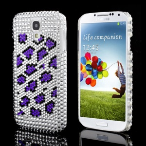 Delicate Leopard Rhinestone Chic Hard Shell Case for Samsung Galaxy S IV 4 i9500 i9505